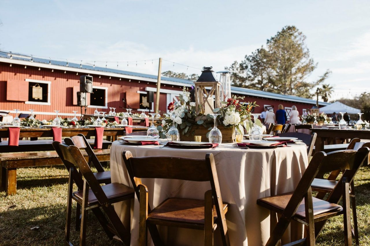 Red Gate Farms wedding reception outdoor