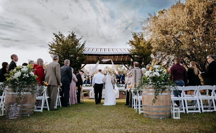 wedding reception outdoor location GA